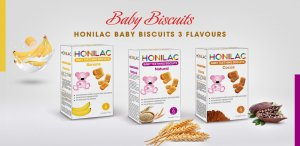 Honilac Baby Biscuits Banana Natural Cocoa Flavours